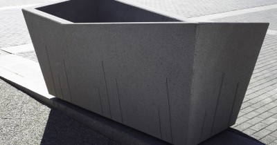 Concrete urban furniture
