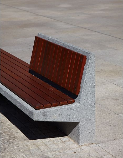 Wooden And Concrete Urban Furniture